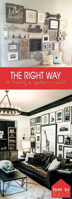 The Right Way to Hang A Gallery Wall|  Home