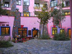 Hundertwasserhaus - Innenhof