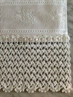 WORKSHOP OF BARRED: Croche - Instructions Barred White Majestic ...,LINDO ESTA RENDA DE CROCHE PRA SUA TOALHA