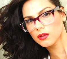1 Fashion Gradient Thick Classic Frame Clear Lenses Men Women Eyeglasses Glasses