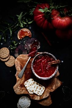 Tomato and cinnamon jam.