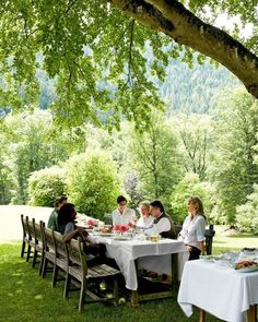 Happy 4th of July! We hope you are enjoying the holiday with good friends and good design. Writer Nancy Houget dines al fresco at her familys 1870s hunting lodge in the Austrian Alps. Photo by @ricardolabougle - Architecture and Home Decor - Bedroom - Bathroom - Kitchen And Living Room Interior Design Decorating Ideas - #architecture #design #interiordesign #homedesign #architect #architectural #homedecor #realestate #contemporaryart #inspiration #creative #decor #decoration