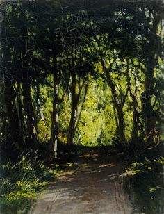 Fanny Churberg  (Turku Artmuseum) Great Paintings, Finland, Country Roads, Painting Trees, Nature, Painters, Inspiration, Landscapes, Oil