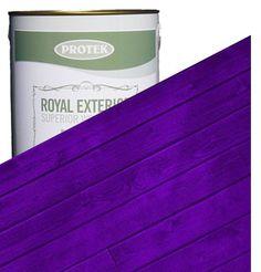Royal Exterior Wood Finish - Mauveine Purple - Protek Wood Stain