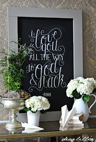 Dear Lillie~ I love you all the way to God and back love this! I Love You All, All The Way, My Love, Chalk Pens, Chalk Art, Make Your Own, Make It Yourself, How To Make, Chalkboard Print
