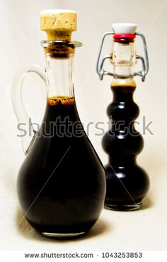 soft focus of traditional balsamic vinegard of Modena, produced from cooked grape must, aged at least 12 years, and protected under the European Protected Designation of Origin (PDO) system