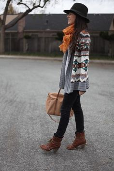 fall tribal outfit!! love the ankle boots