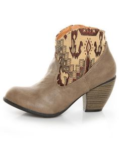 qupid priority 19 taupe tapestry ankle boots - cute and reasonably priced - were featured in People Stylewatch Sept issue but sold out at Ami Clubwear!