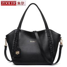 ZOOLER 2017 Luxury Handbags Women Bags Designer High Quality Fashion Genuine Real Leather Shoulder Bag Female Hobos BC-8168