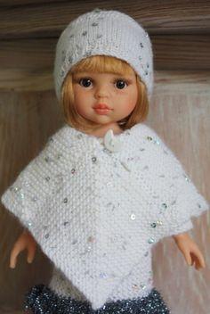 ideas crochet poncho kids pattern doll clothes for 2019 Crochet Doll Dress, Crochet Doll Clothes, Knitted Dolls, Doll Clothes Patterns, Crochet Baby Boots, Baby Afghan Crochet, Crochet Poncho, Crochet Hats, Crochet Braids For Kids