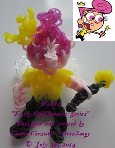 """""""WANDA"""" ~ Rainbow Loom ~ Character Collections ~ Fairly OddParents Series ~"""