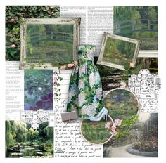 """{ 17 / 25 } The Water-Lily Pond by Claude Monet"" by ant0inette ❤ liked on Polyvore featuring art"