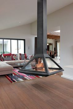 Incredible Contemporary Fireplace Design Ideas - Natural or artificial fireplace models can make both modern and rustic home decorations look highly aesthetic. Artificial fireplace models are general… -