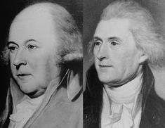 One of the most fascinating coincidences in American History; Thomas Jefferson & John Adams, the main architects of the Declaration of Independence, died on July exactly 50 years to the day from the birth of the country they founded. American Independence, American Presidents, Declaration Of Independence, Us Presidents, Us History, History Facts, American History, Family History, John Adams
