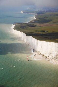 The hugely impressive White Cliffs of Dover, UK.