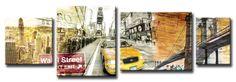 Xl11_Cuadro WAll STREET / New York collage