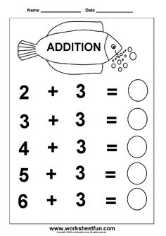 addition 6 worksheets more addition worksheets addition printables ...