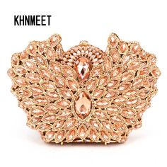 Aliexpress.com : Buy LaiSC Champagne Clutch Bag Crystal Encrusted Bags Women Wedding Diamond Evening Bag Holiday Ladies Party Purse MINAUDIERES SC443 from Reliable ladies party purse suppliers on KHNMEET Factory Store