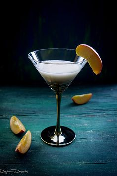 Peach Crumble Martini: 2 ounces peach vodka, ½ ounce peach schnapps, ½ ounce rumchata, ½ ounce walnut liqueur