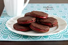 Chocolate-Strawberry Bites (gluten, grain, dairy free, paleo) by LivingHealthyWithChocolate.com