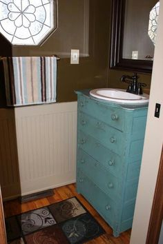 Repurposed chest of drawers