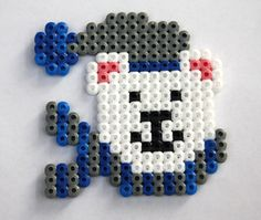 Polar bear hama perler beads