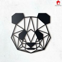 Buy Panda Head Metal Wall Art from our stunning Wall Decor range at Red Candy, specialists in funky home accessories and gifts! Geometric Drawing, Geometric Wall Art, Geometric Designs, Metal Wall Decor, Home Decor Wall Art, Metal Wall Art, Panda Head, Panda Art, Tattoo Flash Art