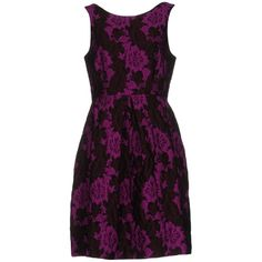 P.a.r.o.s.h. Short Dress ($364) ❤ liked on Polyvore featuring dresses, purple, purple dress, floral swing dress, short purple dresses, floral lace dress and short dresses