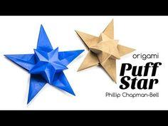 Origami Puff Star Tutorial ★ Design: Philip Chapman-Bell ♥︎ Paper Kawaii - YouTube