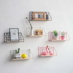 - Decorative Storage - Ideas of Decorative Storage Wall Hang Shelf Iron Grid Storage Rack Household Craft Home Decoration US Decor, Wooden Rack, Decorative Storage, Wall Storage Shelves, Shelves, Hanging Wall Decor, Shelf Decor, Wall Hanging Storage, Wall Hanging Shelves