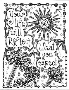 Be Brave Coloring Book by ChubbyMermaid on Etsy: Your life will reflect what you expect.