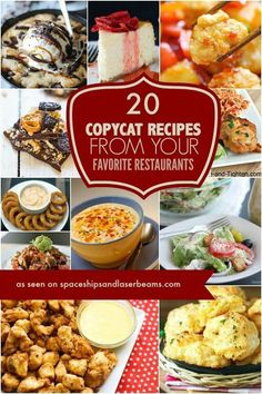 20 olive garden copycat recipes restaurant recipes pinterest 20 copycat recipes from your favorite restaurants spaceships and laser beams includes alice springs chicken forumfinder Gallery