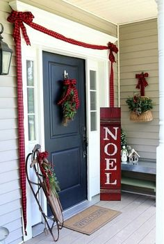 Excited to share the latest addition to my #etsy shop: Thanksgiving Christmas Porch Sign READY TO SHIP Reversible Double Sided Noel Give Thanks Rustic Twine ~ Large 4' Reclaimed Oak Hard Woods http://etsy.me/2iWvEkZ