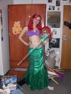 Homemade Little Mermaid Costume: For Halloween, I decided I wanted to be my favorite all time Disney Princess, Ariel from The Little Mermaid.   I didn't want one of the store-bought, not-as-cool