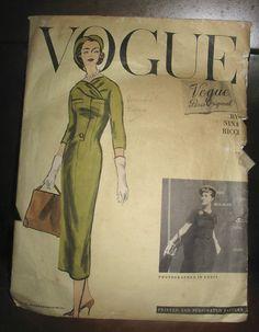 1957 NINA RICCI VOGUE PARIS ORIGINAL pattern size 16,pattern #1375