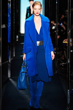 Diane von Furstenberg ~ cobalt is one of the hot colors for fall!