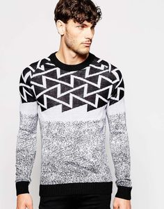 Antony Morato All Over Pattern Jacquard Sweater