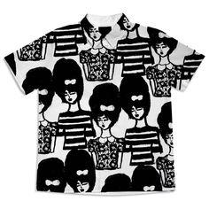 Shop Bouffant Girls. Short Sleeve Blouse by bouffants-broken-hearts | Print All Over Me