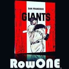 San Francisco Giants ticket art. Row One Brand: Unique sports art and sports gift ideas. Vintage ticket art and ticket gifts made from 3,000 historic sports tickets. #gifts #giftideas #sports #sf #Pinterest #Giants