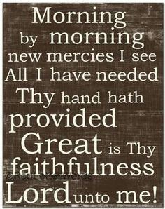 Great is Your Faithfulness!