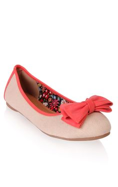 Deb Shops canvas ballet #flat with #bow