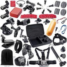 Buy online US $42.56  GPK01 Action Camera Accessories Kits for Gopro Hero 4 SJ4000 SJ5000 SJ6000 SJ7000 SJ9000 Xiaomi Yi Sports Cameras Free Shipping  #Action #Camera #Accessories #Kits #Gopro #Hero #Xiaomi #Sports #Cameras #Free #Shipping  #Camera-2018