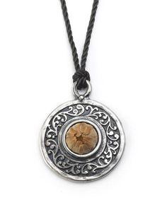 Rose of Bethlehem Round Silver Pendant