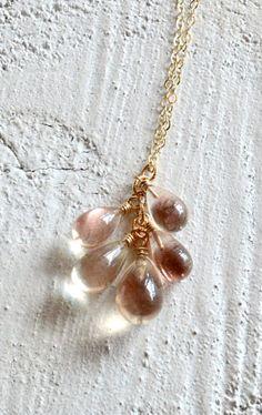 Oregon sunstone necklace