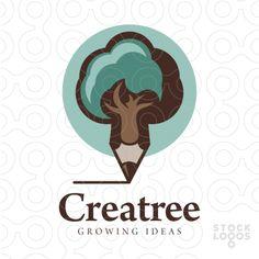 Creatree #logo #tree #pencil