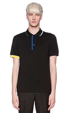 1d2769d0 Fred Perry x Raf Simons Fred Perry Shirt with Contrast Tipping in Soho  Black Fred Perry
