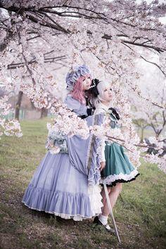 Yuyuko Saigyouji and Youmu Konpaku from Touhou Project
