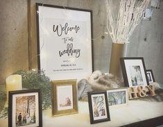 シンプルおしゃれが理想!大人っぽいデザインの【ウェルカムボード】7選 | marry[マリー] Gatsby Wedding, Our Wedding, Wedding Registration Table, Wedding Welcome Board, Welcome Table, Watercolor Art Diy, Reception Signs, Photo Corners, Space Wedding