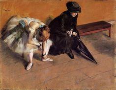 Waiting - Edgar Degas (1880-82)