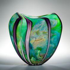 "Peter Layton ~ David Hockney inspired glass art ""Woldgate Woods"""